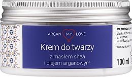 Parfumuri și produse cosmetice Cremă hidratantă pentru faţă - Argan My Love Nourishing Face Cream With Shea Butter And Argan Oil