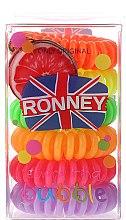 Parfumuri și produse cosmetice Set elastice de păr - Ronney Professional Funny Ring Bubble 5