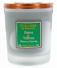 """Parfumuri și produse cosmetice Lumânare parfumată """"Eben și Vetiver"""" - Collines de Provence Candle Ebony & Vetiver"""