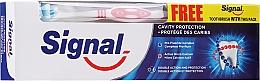 Parfumuri și produse cosmetice Set pentru dinți, periuță roșie - Signal Cavity Protection Toothpaste (toothpaste/100ml + t/brush/1pc)