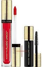 Parfumuri și produse cosmetice Set - Collistar Fluido Unico, 05-Rosa Del Deserto Mat (lipstick/5ml + mascara/6ml)