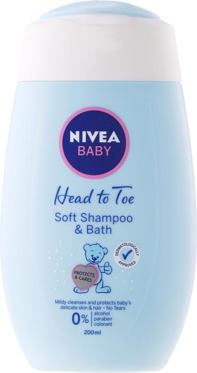 Șampon și gel de duș - Nivea Baby Soft Shampoo&Bath 2w1