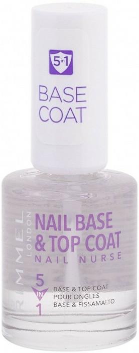 Fixator de unghii - Rimmel Nail Nurse 5 in 1 Nail Base & Top Coat — Imagine N1