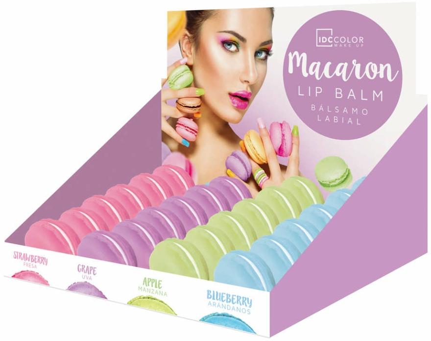 """Balsam de buze """"Macaroon"""", căpșună - IDC Institute Color Macaron Lip Balm Strawberry — Imagine N2"""
