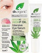 Parfumuri și produse cosmetice Ser pentru zona ochilor - Dr. Organic Bioactive Skincare Hemp Oil Intensive Eye Serum