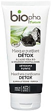 Parfumuri și produse cosmetice Mască cu cărbune natural pentru față - Biopha Nature Mask Detox