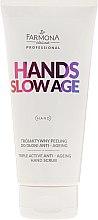 Parfumuri și produse cosmetice Scrub pentru mâini - Farmona Hands Slow Age Triple Active Anti-ageing Hand Scrub