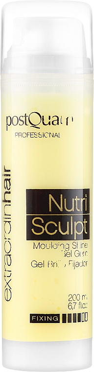 Gel-sclipici pentru păr - PostQuam Extraordinhair Nutri Sculpt Moduling Shine Gel Gum — Imagine N1