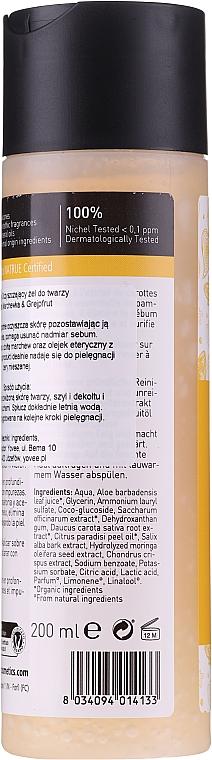 """Gel de curățare pentru față """"Morcov galben și grapefruit"""" - Bio Happy Face Gel Cleanseryellow Carrot And Grapefruit — Imagine N2"""