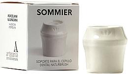 Parfumuri și produse cosmetice Suport periuță de dinți, alb  - NaturBrush Sommier Toothbrush Holder