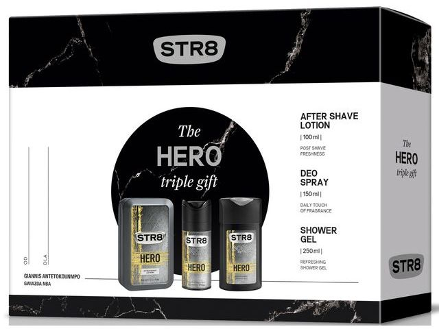 STR8 Hero - Set (a/sh/lot/100ml + sh/gel/250ml + deo/150ml) — Imagine N1