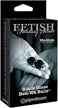 Parfumuri și produse cosmetice Bile vaginale din sticlă, negre, 2 buc. - PipeDream Fetish Fantasy Series Black Glass Ben-Wa Balls