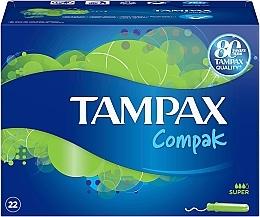 Parfumuri și produse cosmetice Tampoane cu aplicator, 22 buc - Tampax Compak Super