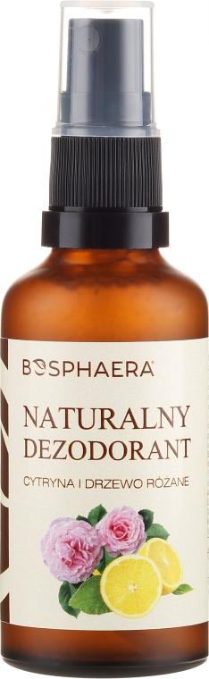 Deodorant natural cu lămâie și trandafir - Bosphaera — Imagine N1