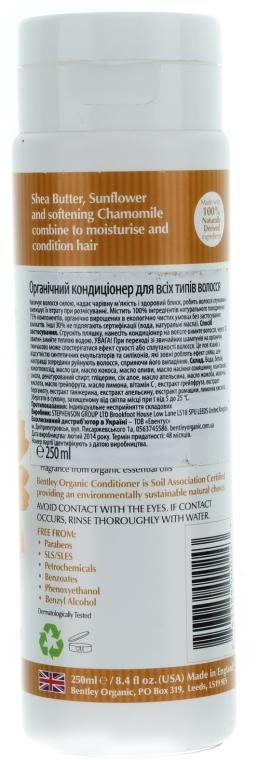 Balsam cu extract de floarea-soarelui, mușețel și unt de shea pentru păr - Bentley Organic Conditioner — Imagine N2