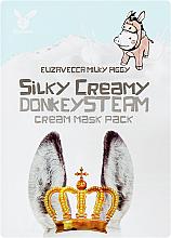 Parfumuri și produse cosmetice Mască din țesut , cremoasă - Elizavecca Silky Creamy donkey Steam Cream Mask