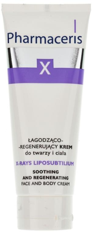 Cremă calmantă și regenerantă pentru față și corp - Pharmaceris X XRay-Liposubtilium Sooting and Regenerating Cream For Face and Body — Imagine N1