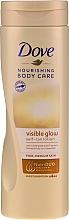 Parfumuri și produse cosmetice Loțiune cu efect de bronz pentru corp - Dove Visible Glow Gradual Self-Tan Lotion Fair-Medium Skin