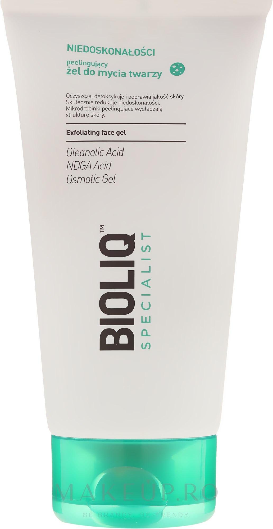 Peeling-Gel de curățare pentru față - Bioliq Specialist Exfoliating Face Gel — Imagine 125 ml