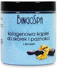 Parfumuri și produse cosmetice Sare de baie pentru unghii si cuticule, cu colagen si ginseng - BingoSpa