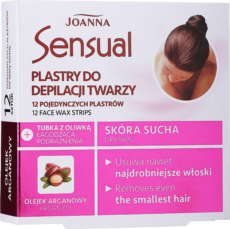 Benzi depilatoare pentru faţă cu ulei de argan - Joanna Sensual Depilatory Face Strips