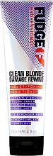 Parfumuri și produse cosmetice Balsam nuanțator pentru păr - Fudge Clean Blonde Damage Rewind Conditioner