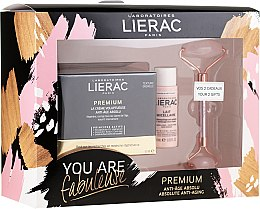 Parfumuri și produse cosmetice Set - Lierac Premium Anti-Age Absolu Set (f/cr/50ml + f/milk/30ml + roller/1pcs)