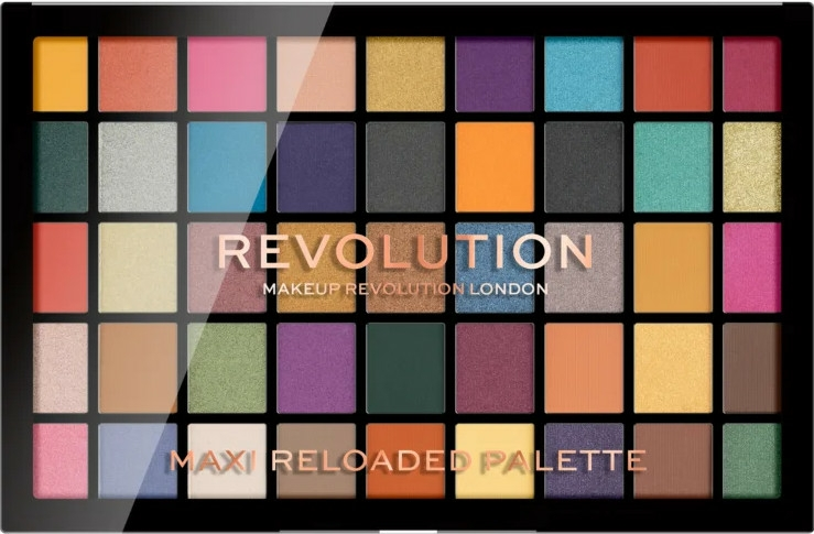 Paletă farduri de ochi, 45 nuanțe - Makeup Revolution Maxi Reloaded Palette
