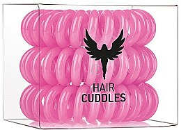 Parfumuri și produse cosmetice Set elastice de păr, roz, 3 buc - HH Simonsen Hair Cuddles Pink