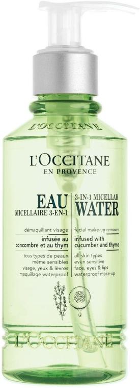 Apă micelară 3in1 - L'Occitane 3 In 1 Micellar Water Make-Up Remover — Imagine N1