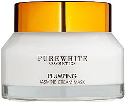 Parfumuri și produse cosmetice Cremă-mască cu efect de lifting, extract de iasomie - Pure White Cosmetics Plumping Jasmine Cream Mask