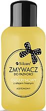 Parfumuri și produse cosmetice Soluție pentru îndepărtarea ojei cu glicerină și ulei de in - Silcare