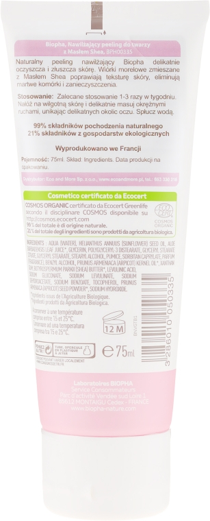 Scrub hidratant cu unt de shea pentru față - Biopha Nature Scrub Idratante — Imagine N2