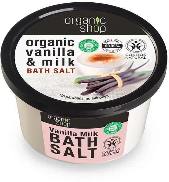 Sare de baie cu vanilie - Organic Shop Baths Salt Organic Vanilla & Milk — Imagine N1