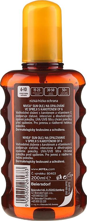 Ulei pentru bronzare SPF6 - Nivea Sun Care Oil — Imagine N2