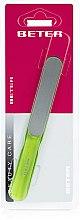 Parfumuri și produse cosmetice Pilă de unghii cu suprafață laser, ergonomic, verde deschis - Beter Beauty Care