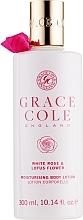 """Parfumuri și produse cosmetice Loțiune de corp """"Trandafir alb și Floare de lotus"""" - Grace Cole White Rose & Lotus Flower Body Lotion"""