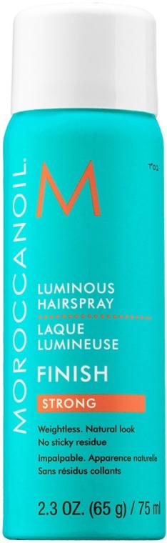 Lac de păr cu fixare puternică - Moroccanoil Luminous Hairspray Strong Finish — Imagine N2