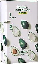 Parfumuri și produse cosmetice Mască bifazică cu avocado - Village 11 Factory Refresh 2-Step Mask Green