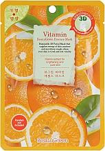 Parfumuri și produse cosmetice Mască 3D din țesătură cu vitamine pentru față - Beauugreen Contour 3d Vitamin Essence Mask