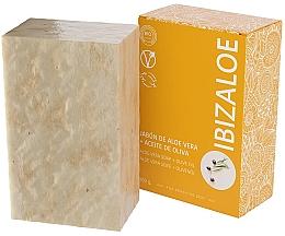 Parfumuri și produse cosmetice Săpun cu ulei de măsline - Ibizaloe Aloe Vera Soap Olive Oil