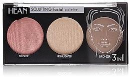 Parfumuri și produse cosmetice Paletă pentru conturarea feţei 3 culori - Hean Paletka Sculpting