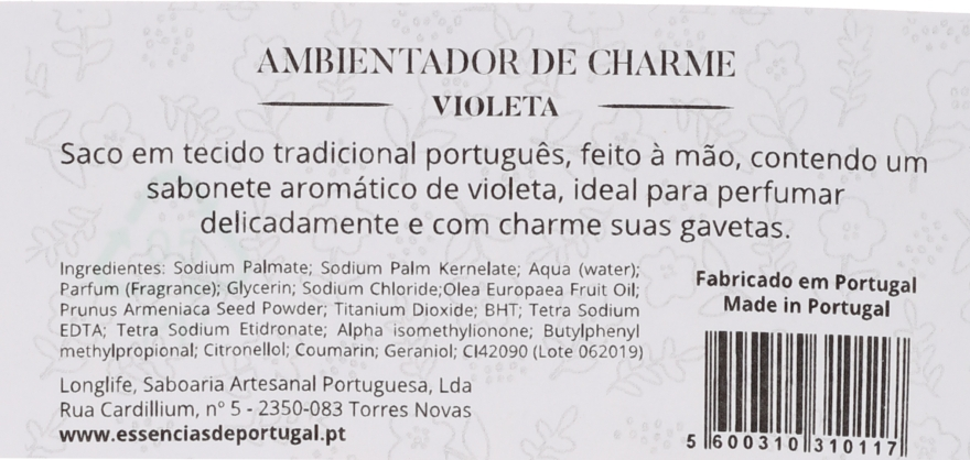 Pliculeț parfumat, flori roz - Essencias De Portugal Tradition Charm Air Freshener — Imagine N2