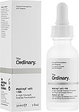Parfumuri și produse cosmetice Ser peptidic cu acid hialuronic pentru față - The Ordinary Matrixyl 10% + HA