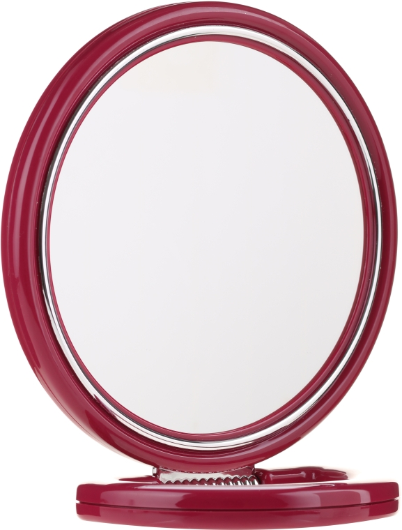 Oglindă dublă, pe suport, 9509, bordo, 18,5 cm - Donegal Mirror