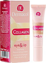 Parfumuri și produse cosmetice Cremă intensă de întinerire pentru buze și pleoape - Dermacol Collagen+ Eye & Lip Cream