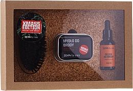 Parfumuri și produse cosmetice Set - Zew For Men Set (oil/30ml + soap/85ml + holder/1pcs + brush/1pcs)