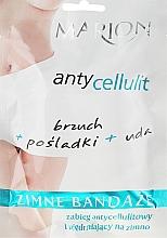 Parfumuri și produse cosmetice Bandaje elastice pentru împachetari corporale la rece - Marion Anti-Cellulite Cool Bandages