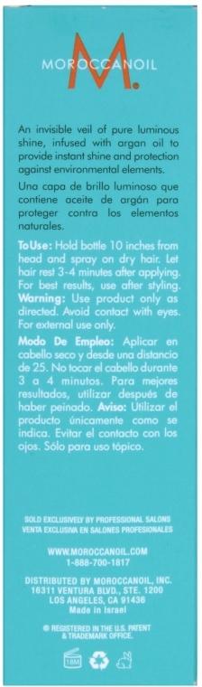Spray hidratant ce conferă lstrălucire - Moroccanoil Glimmer Shine — Imagine N6