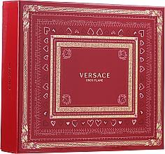 Parfumuri și produse cosmetice Versace Eros Flame - Set (edp 100 ml + sh/gel 150 ml + edp/10ml)